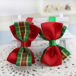 Wholesale Cute Dog Wedding - 2016 Real Hot Sale Small Christmas Holiday Dog Bow Ties Cute Neckties Collar Pet Puppy for Dog Accessories Grooming Supplies