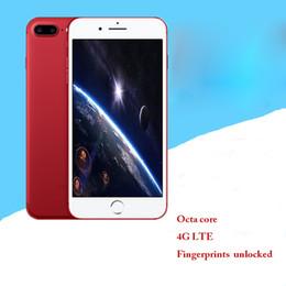 Acheter en ligne Gb mémoire vidéo-Hot nouvelle mode Goophone i7 plus version spéciale rouge édition spéciale 1 + 8G grande mémoire HD écran étanche empreinte digitale déverrouiller smartphone