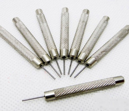 Descuento bandas de acero inoxidable enlaces 30pcs / lots Reloj del acero inoxidable de la alta calidad para la herramienta de la reparación del removedor del Pin del acoplamiento del acero inoxidable de la pulsera de la venda 0.7 / 0.8 / 0.9 / 1.0mm Nuevo