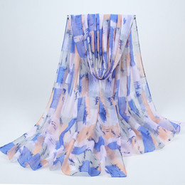 Compra Online Mejores bufandas de moda-Regalo suave de los mantones del resorte de las mujeres viscosas de la bufanda de la flor de la manera de la Al por mayor-Alta calidad el mejor para el hijab musulmán BLS010 de las bufandas de las señoras