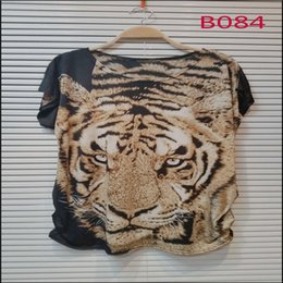 Wholesale michun apparel custom design printed leopard floral cute cat butterfly star wolf tiger pattern summer casual long t shirt for women