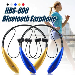 HBS 800 Headphone Wireless Bluetooth Earphone HBS-800 V4.0 Stereo Neckbands Sports Headset For Iphone Samsung LG With Retail Box