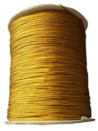 200m+1.5mm Goldenrod Braided Nylon Cord Rattail Braid Thread Macrame Rope Shamballa Bracelet Beading Cords String Accessories