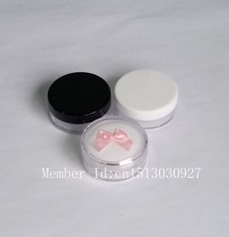 5g empty Loose Powder Sample Jar with Sifter and Cotton Pads Refillable Plastic Make-up Jar Cosmetic Container