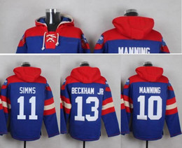 Wholesale American football Mens Sweatshirts Pro Jerseys hoodies embroidery Stitched New York team Eli Manning Phil Simms Odell Beckham Jr
