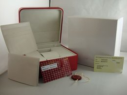 Wholesale OME Brand Box Luxury WATCH BOX New Square Red box For Watches Booklet Card Tags And Papers In English Best Box