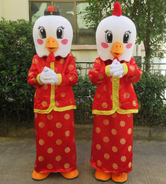 Wholesale 17 hot sale Spring Festival adult hen chicken rooster mascot costume suit with high quality for new year