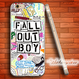 Capa Fall Out Boy Soft Clear TPU Case for iPhone 7 6 6S Plus 5S SE 5 5C 4S 4 Case Silicone Cover.