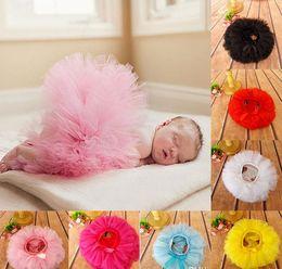 Faldas para las muchachas de los niños en venta-Baby Girls Ruffle Bloomers TuTu Falda Ball Gown Rose Red Arcos Fuffy Pettiskirt Baby 6 Tulle en capas de los niños A9867