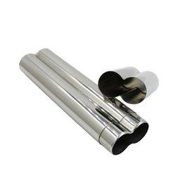 Alto acero inoxidable pulido en venta-Grado 304 de acero inoxidable dos cigarros de tubo de cigarrillos / espejo de pulido accesorios de alta calidad portátil de cigarro y regalo