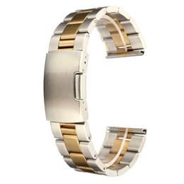 Bandas de acero inoxidable enlaces en Línea-Reloj sólido al por mayor-Nuevo a estrenar del acoplamiento del acero inoxidable para el final recto 18/20/22 / 24m m de la pulsera de la correa de la venda