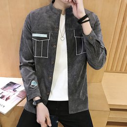 Base 2017 in spring and autumn new male pure corduroy long sleeved shirt shirt young fashion tide