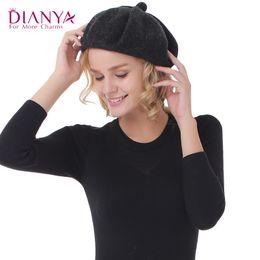 Vente en gros-Nouvelle Hiver femmes chapeau Vintage Bérets Laines 3colors Casquettes Pillbox chapeau Gorras Planas Hombre Casques Beret Boinas Mujer Casquette Beanie Hat à partir de bonnet cru fabricateur