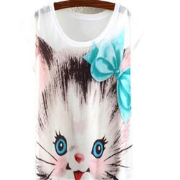 Promotion imprimé floral t-shirts femmes Grossiste-Été Femmes Floral Short T-shirts manches en vrac Casual Print Tops