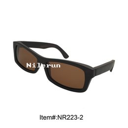 rectangle brown polarized lens black wooden sunglasses