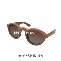 round natural wooden sunglasses