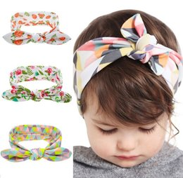 Bohemian Headband Cotton Girl Baby doughnut Bowknot Flower Turban Twist Head Wrap Twisted Knot Soft Hair Band Kids Headbands Bandanas CUTE
