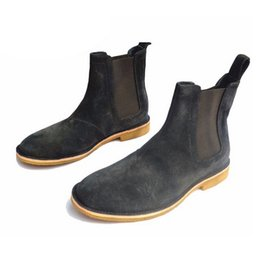 Wholesale Classical Vintage Chelsea Boots Handmade All Matching Kanye West Boots Crepe Bottom Casual Platform High Men S Shoes Botas