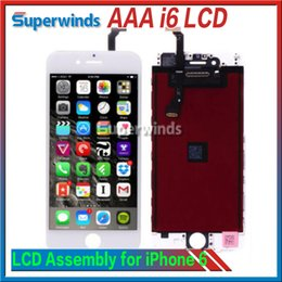 Wholesale Grade AAA Quality iPhone LCD Display Touch Screen Digitizer full Assembly Complete Screen with Frame Free DHL NO PIXEL TOUCH Problems