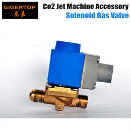 Wholesale Freeshipping TIPTOP New Co2 Jet Machine Solenoid valve Bule Color Electromagnetic valve with Copper Valve Body Equipped with Aluminum Pipe