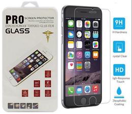 Écrans 4s à vendre-Protecteurs d'écran en verre trempé Film pour Iphone 6 Iphone 6 Plus verre traité pour iPhone 5 iphone 7 iphone 7plus ipone 4s Retail box
