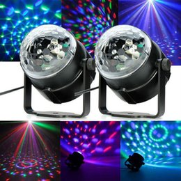 "Selling RGB Mini led de Cristal magic ball stage Efeito de ilumina o as DJ Disco C club bar L mpada festa Luz show UE ""US plug 110240 V"