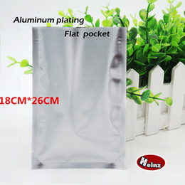 18*26cm Matte silver aluminum plating flat pocket, Heat Seal Aluminum Foil Bag, Food bag, Cosmetics packaging. Spot 100  package