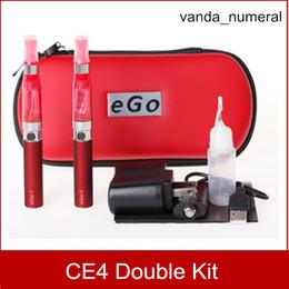 Ego CE4 Starter Kit Zipper case Double Kit Electronic Cigarette E-Cigarette 2 Atomizers 2 Battery 650mah 900mah 1100mah 9 Colors