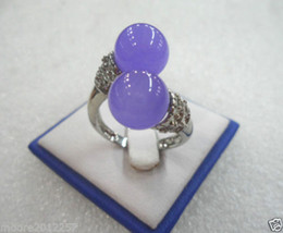 free shipping >Genuine Noblest green Shell pearl Crystal jade silver ring> charming Amethyst Ruby Blue Emerald Topaz Multi-Ge