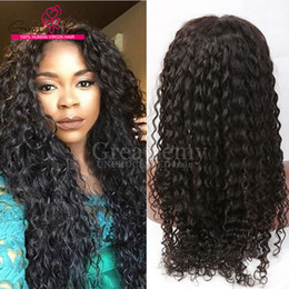 Wholesale Malaysian Deep Curly Wave Human Hair Lace Front Wigs inch New Arrival Full Lace Wig Natural Color Glueless Lace Wigs Great Remy Retail
