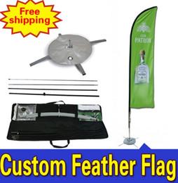 Promotion bannières plumes drapeau 55cm * 260cm LIVRAISON GRATUITE Drapeaux à la plage DOUBLE-face à la mode Drapeaux Feather Drapeau De Plumes Fjader Flagg Hoyhen - Lippu
