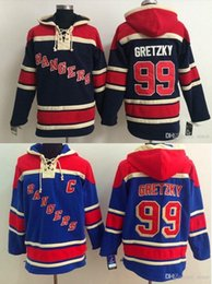 2016, Old Time Hockey Hoodies Jersey New York Rangers 99 Wayne Gretzky Sweatshirts Jersey