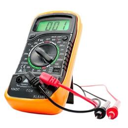 Wholesale LCD Digital Multimeter EXCEL XL830L Volt Professional Meter Ammeter Ohmmeter Handheld Tester Electrical Instruments Yellow SWTG