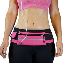 Waterproof Running Belt Waist Pack Runners Belt Pack for Hiking Fitness Adjustable Running Pouch for Mobile Phones