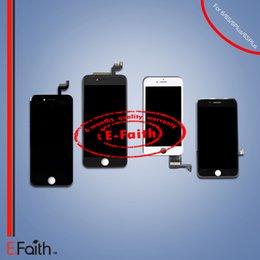 2017 marcos libres Reparación de la asamblea del capítulo del digitizador del tacto de la exhibición del grado A +++ LCD para el iPhone 6 6S 7 7 más envío libre de DHL marcos libres oferta