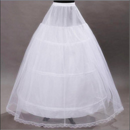 2017 Brand New Petticoats White 3 Hoops Bone Full Underskirt for Bride Formal Dress Stock Wedding Accessories Ball Gown Skirt Crinoline
