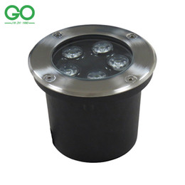 Wholesale LED Underground Lamps W V IP67 Buried Recessed LED Outdoor Ground Garden Path Floor Yard Lamp Landscape Light RGB Engineering Lights