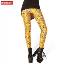 Polainas de la impresión de poliéster en Línea-Venta al por mayor-Hipster Esqueleto moda sana mujeres venta al por mayor rayas leggings poliéster polainas leggings dibujos animados impresión digital
