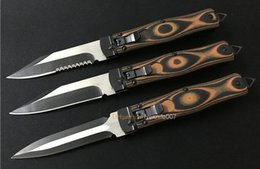 Wholesale Microtech Cobra Oss Side Open Single Action HRC Cr17Mov Serrated Blade G10 Handle Camping Knife Outdoor Gear