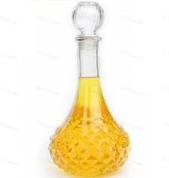2017 verre bouchons de vin 1PC Vente chaude Nouvelle Arrivée Cristal Whisky Vin Shot Verre Bouteille Avec Cap Bouchon Drinking Bar Decanter 500ML 100ML J1083 abordable verre bouchons de vin