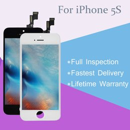 Wholesale-LCD Display with Touch Screen Digitizer Compelete Replacement for iPhone 5S Black and White with Lifetime Warranty