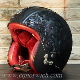 Wholesale 2017 Christmas gift new Stylish cheap high quality Half Face motorcycle accessories open face Motorcycle helmet