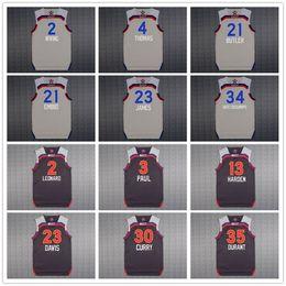 Wholesale 2017 All Star Westbrook Kevin Durant Stephen Curry Kyrie Irving Kawhi Leonard Harden Paul Dwyane Wade Isaiah Thomas JerSey