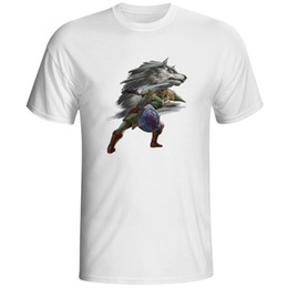 The Legend of Link Funny Cool Game T-shirt Fashion New Design Short Sleeve Anime White Printed Tshirt Men Unisex Tee