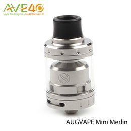 Wholesale Authentic Augvape Merlin Mini RTA Atomizer ml Fit for SMOK Alien Mod