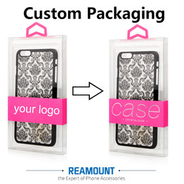 DIY Custom Company Brand Dust-proof PVC Transparent Retail Packaging Box for Samsung s8 s8 plus Shell Phone Case Cover with Inner Tray