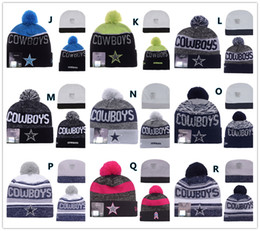 Wholesale Sport KNIT DALLAS COWBOY Beanies Team Hat Winter Caps Popular Beanie Sports Clubs Fix New season types choic