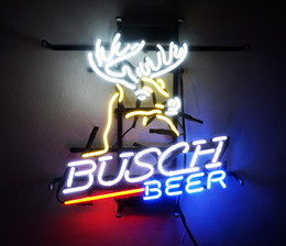 New Tat tire Neon Beer Sign Bar Sign Real Glass Neon Light Beer Sign ME 115-Busch Beer 15.7x16 002