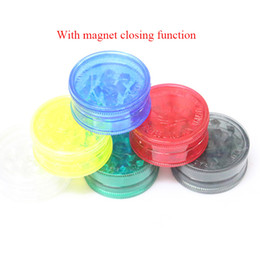 3 layers grinders Plastic Spice Crusher with magnent for dry herbs cigarette crusher