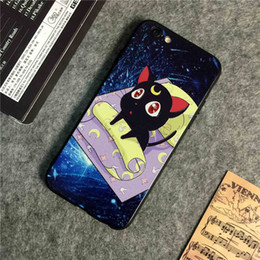 Wholesale New embossed creative IPhone s6plus shell fashion color version of the European and American cartoon color mobile phone shell Universal